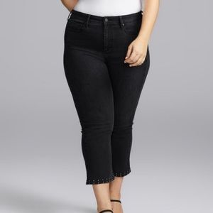 Not your daughters jeans black kick flare jeans